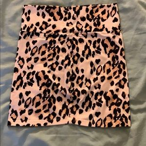 Off-white Cheetah sprint Bodycon Miniskirt